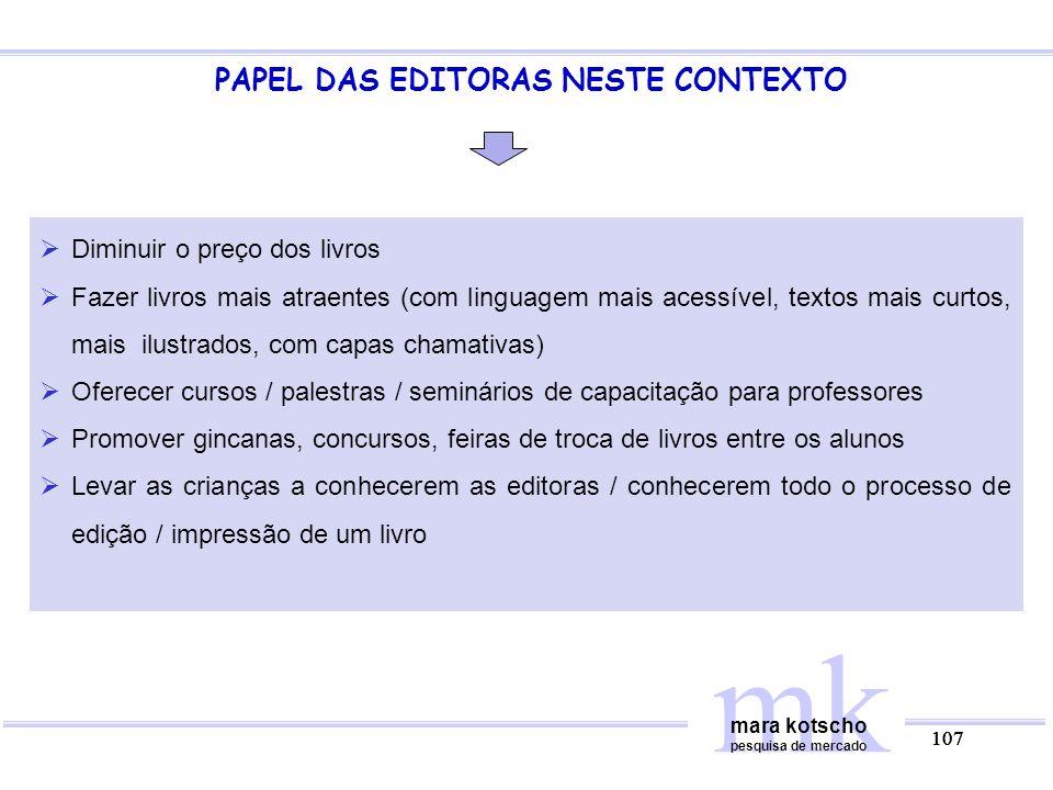 PAPEL DAS EDITORAS NESTE CONTEXTO