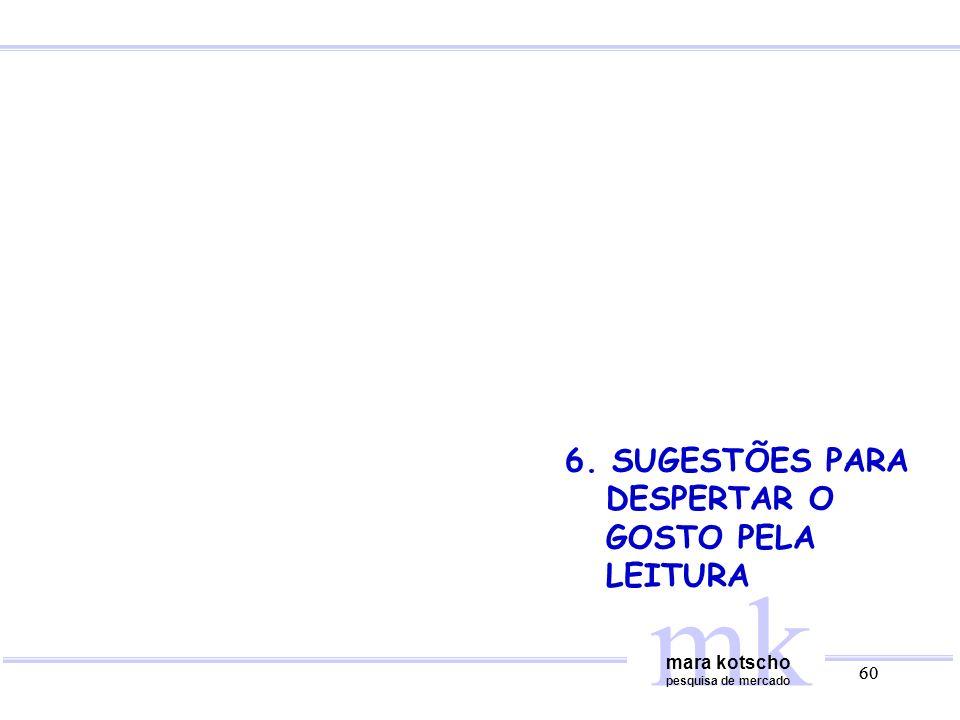 mk 6. SUGESTÕES PARA DESPERTAR O GOSTO PELA LEITURA mara kotscho 60