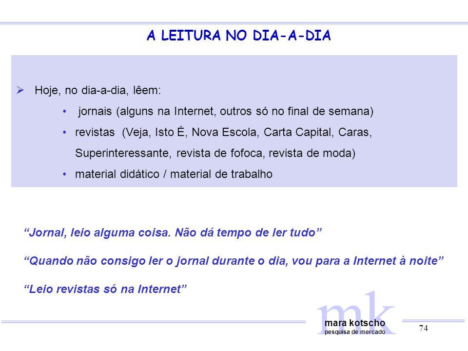 mk A LEITURA NO DIA-A-DIA Hoje, no dia-a-dia, lêem: