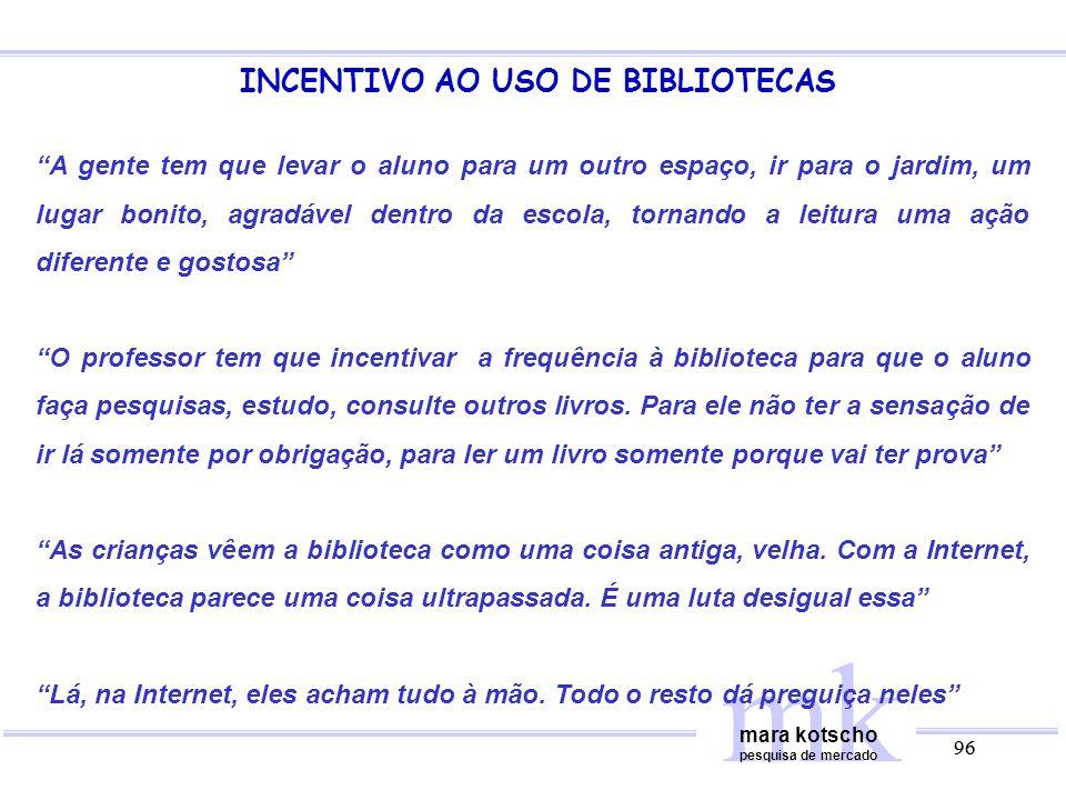 INCENTIVO AO USO DE BIBLIOTECAS