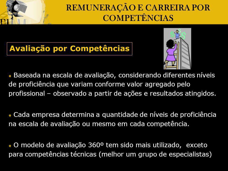 REMUNERAÇÃO E CARREIRA POR COMPETÊNCIAS Avaliação por Competências