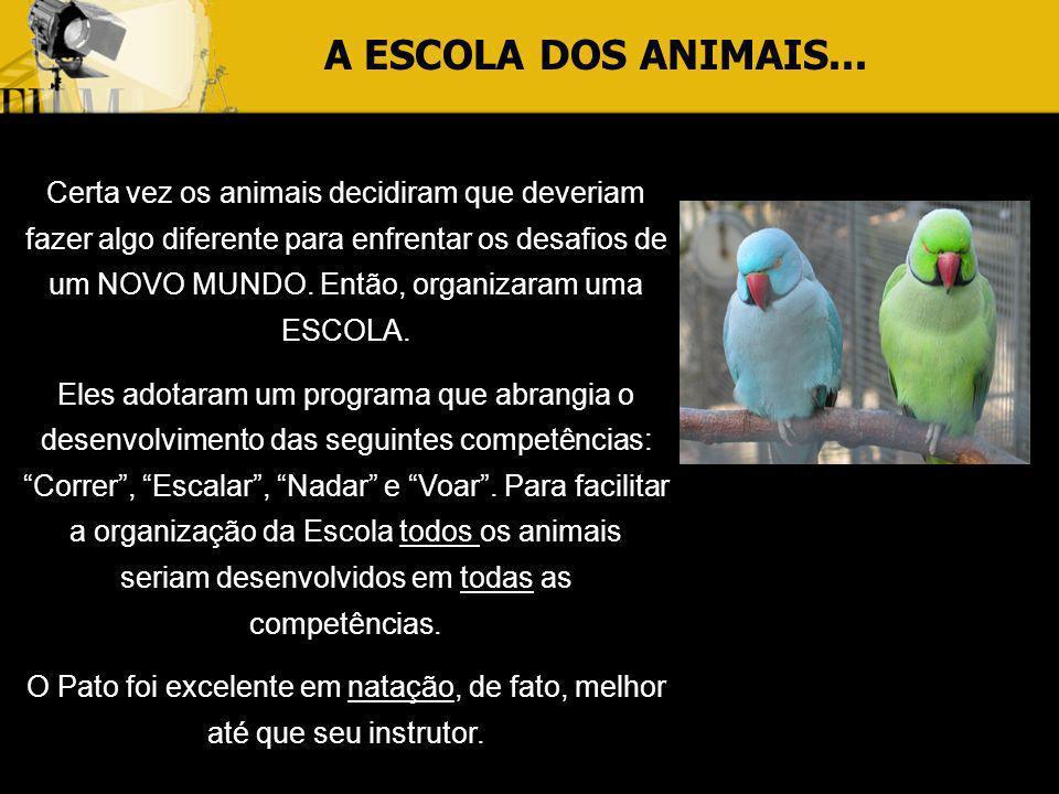 A ESCOLA DOS ANIMAIS...