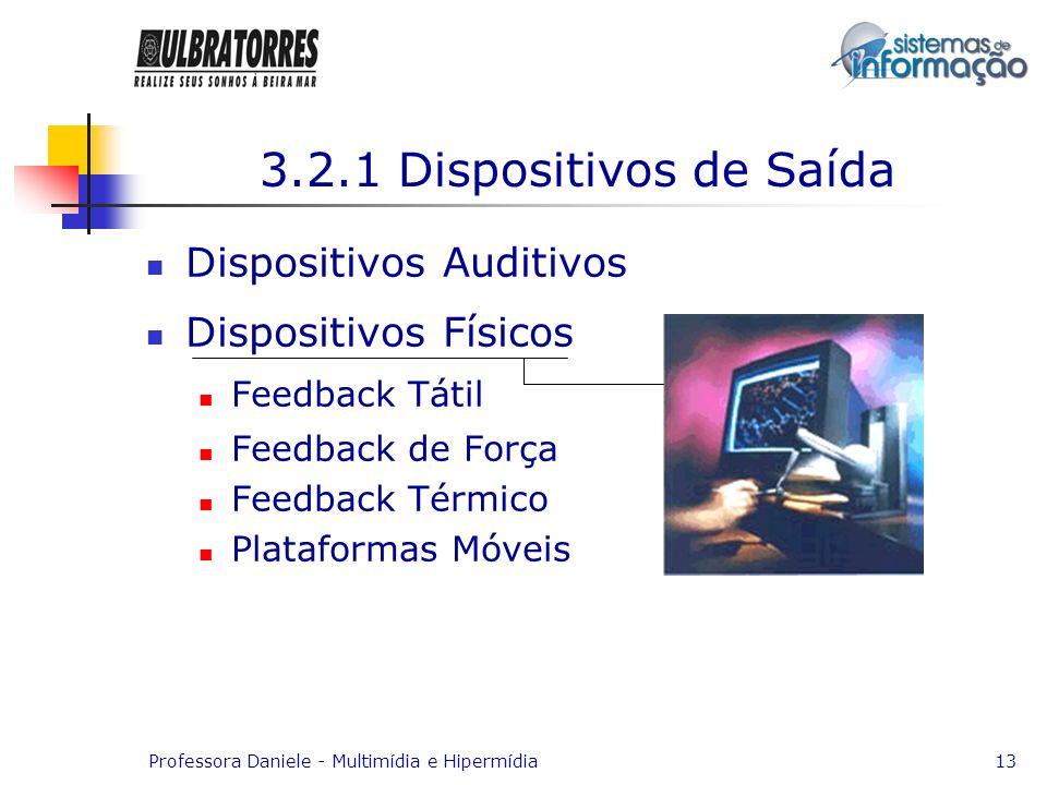 3.2.1 Dispositivos de Saída Dispositivos Auditivos