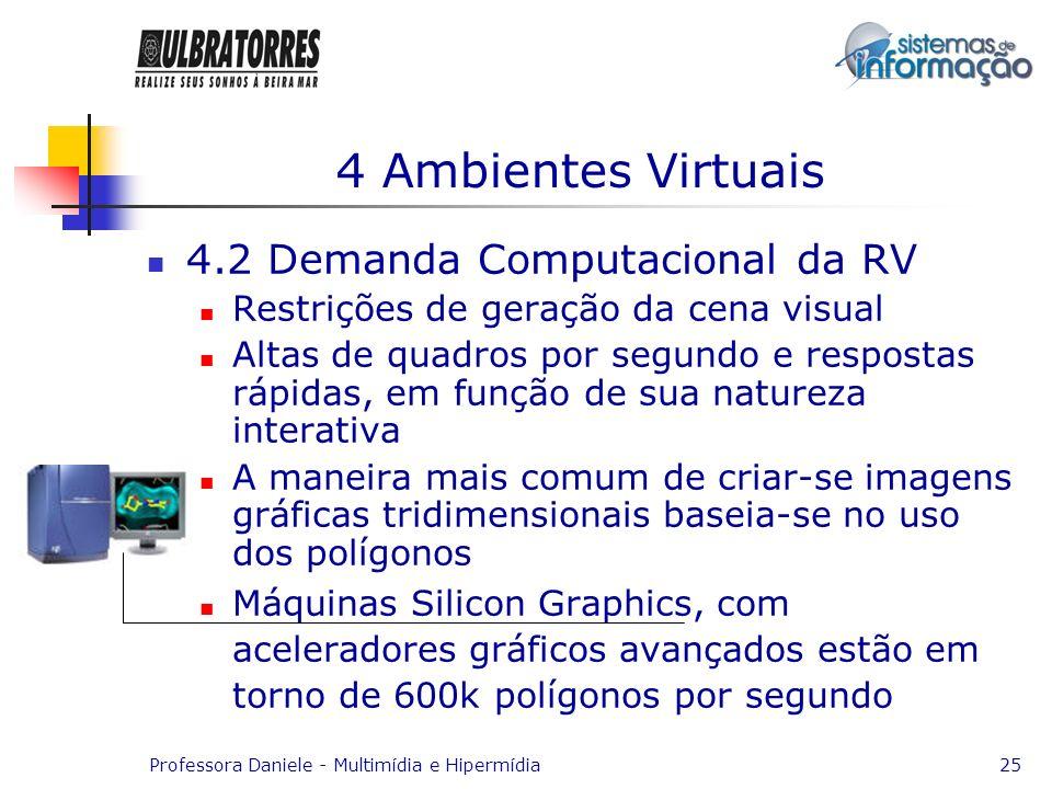 4 Ambientes Virtuais 4.2 Demanda Computacional da RV