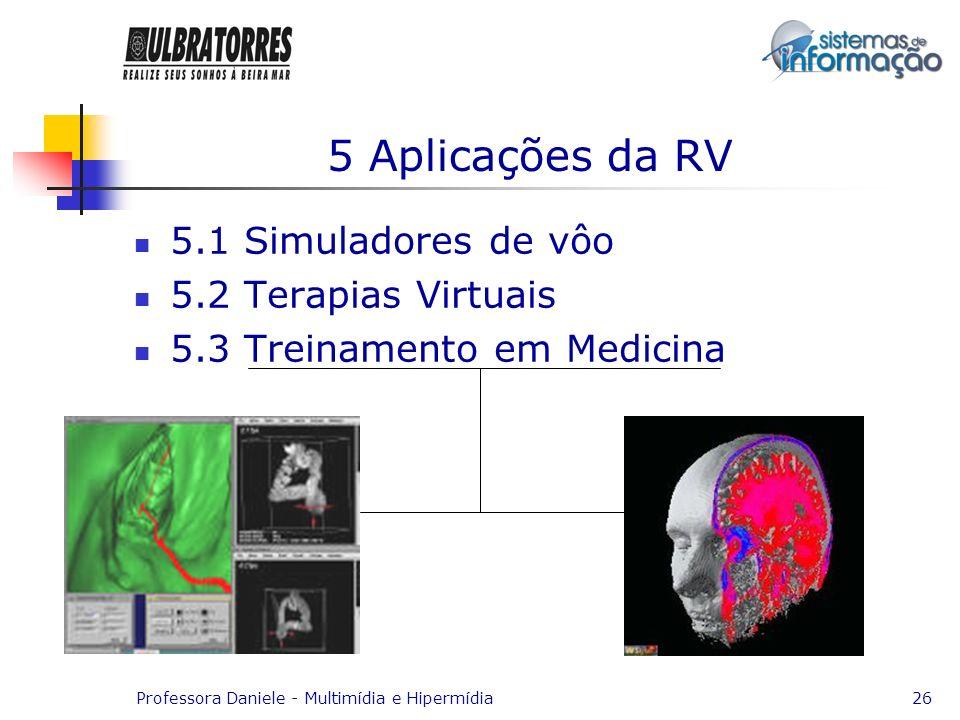 5 Aplicações da RV 5.1 Simuladores de vôo 5.2 Terapias Virtuais