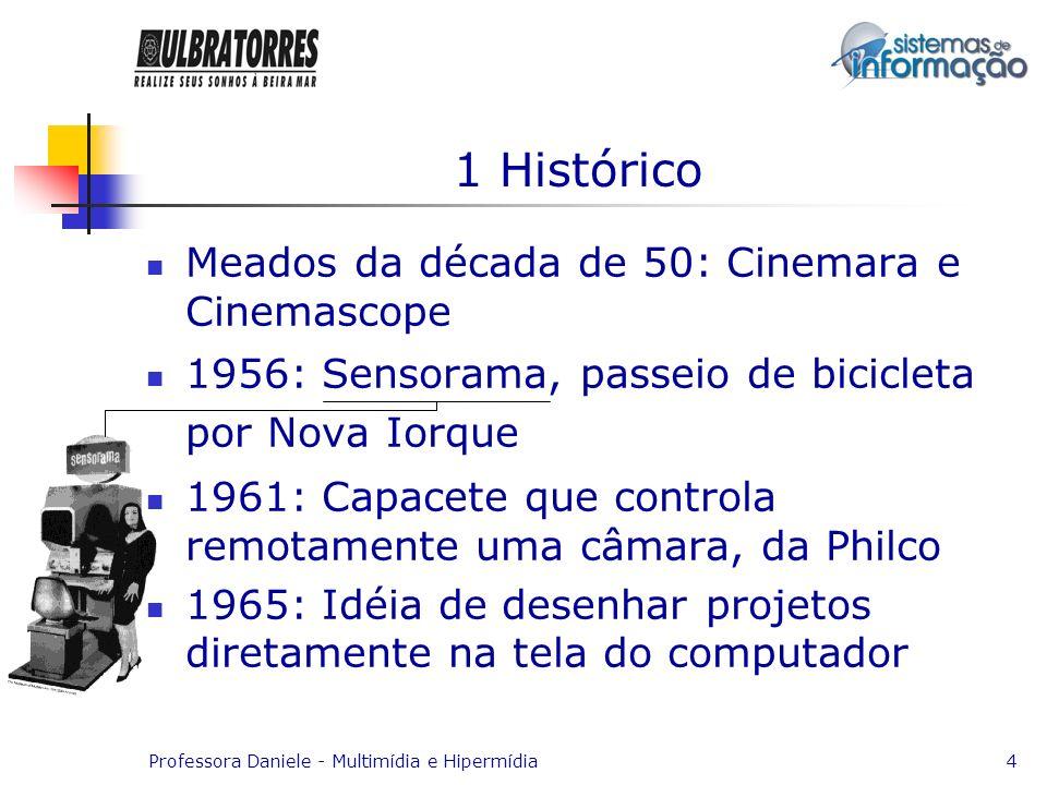 1 Histórico Meados da década de 50: Cinemara e Cinemascope