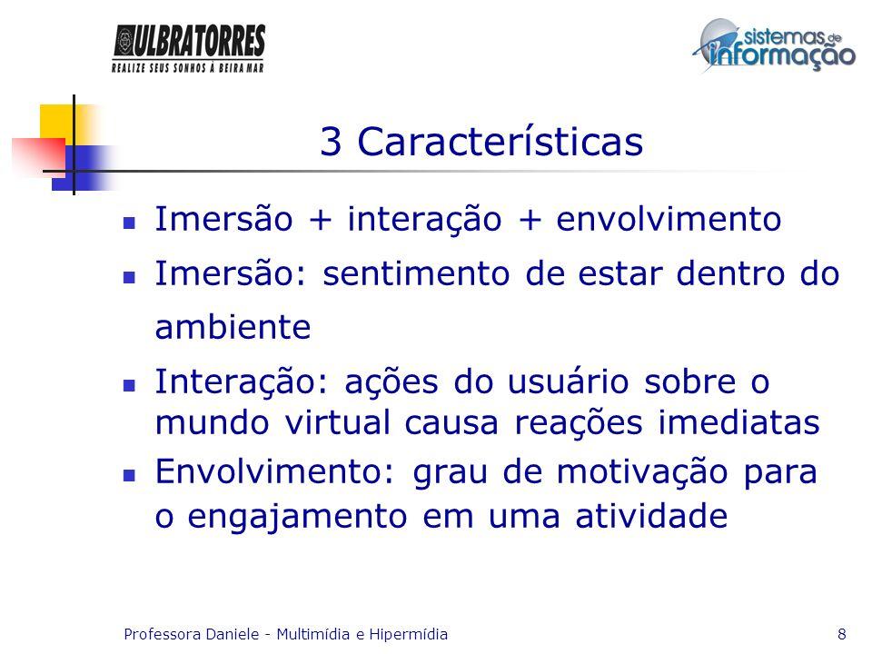 3 Características Imersão + interação + envolvimento