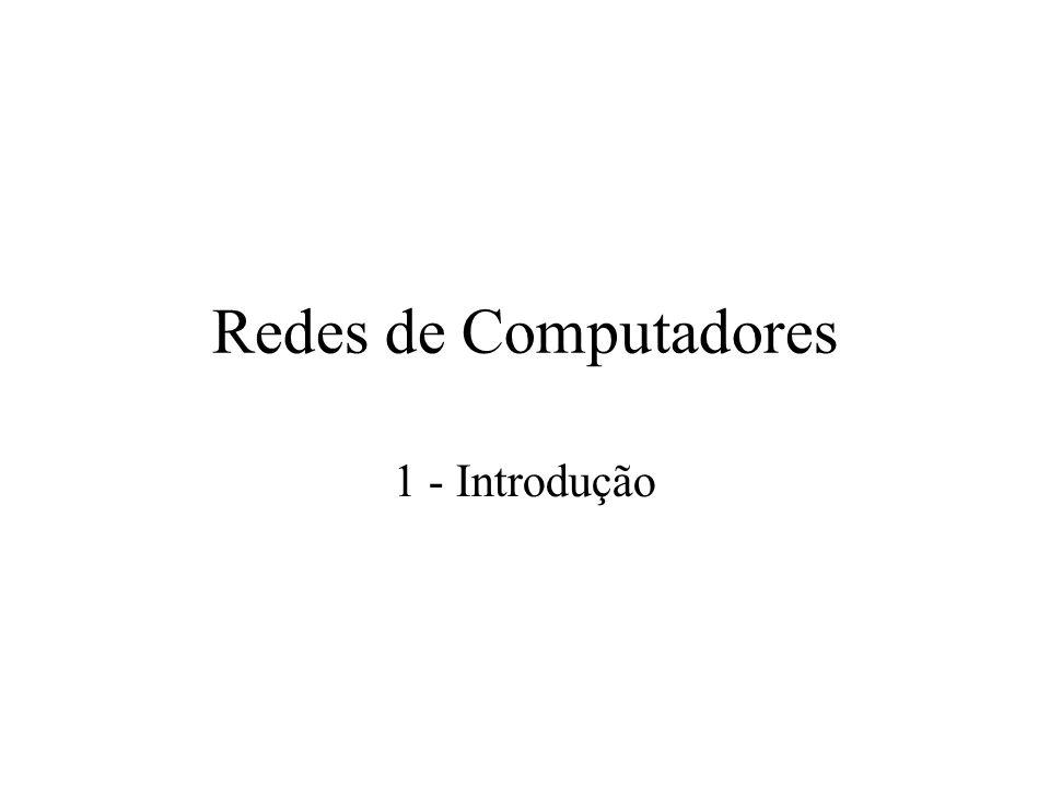 Redes de Computadores 1 - Introdução