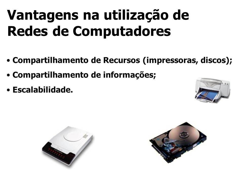 Vantagens na utilização de Redes de Computadores