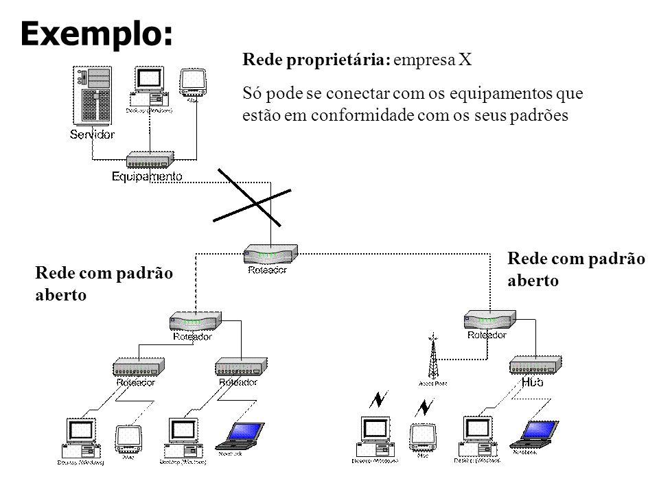 Exemplo: Rede proprietária: empresa X