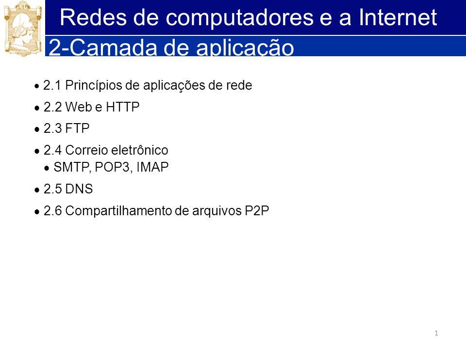 Redes de computadores e a Internet 2-Camada de aplicação