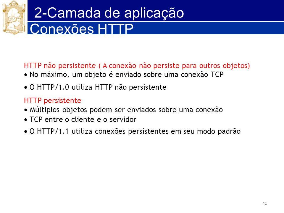 2-Camada de aplicação Conexões HTTP