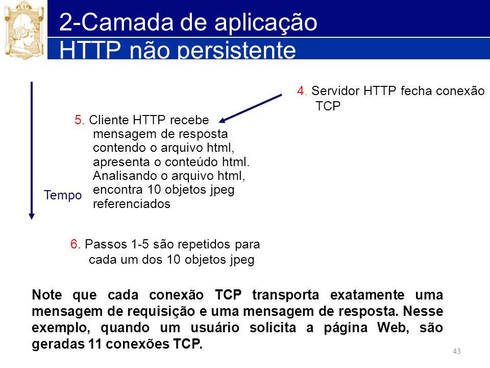 2-Camada de aplicação HTTP não persistente