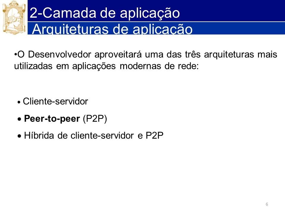 Arquiteturas de aplicação