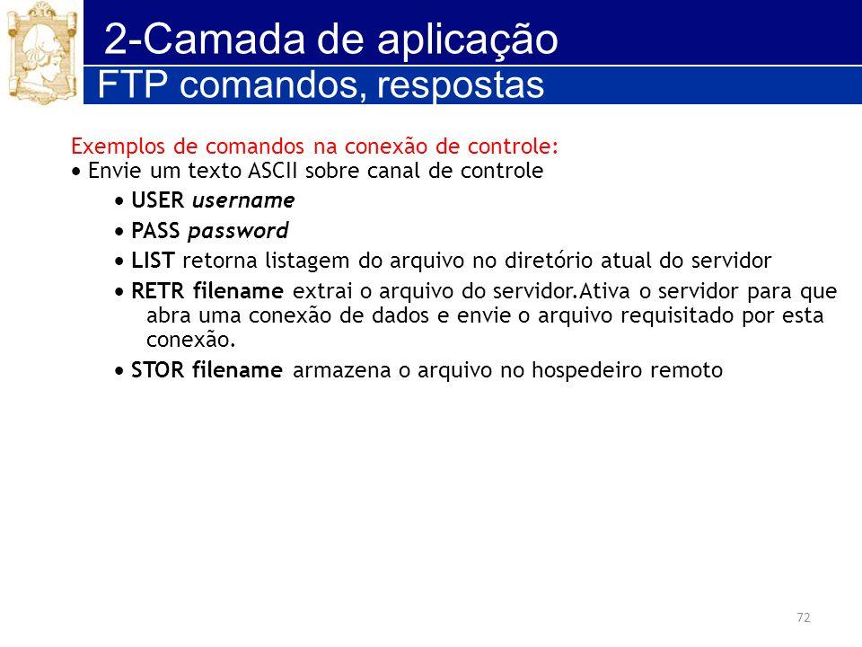 2-Camada de aplicação FTP comandos, respostas