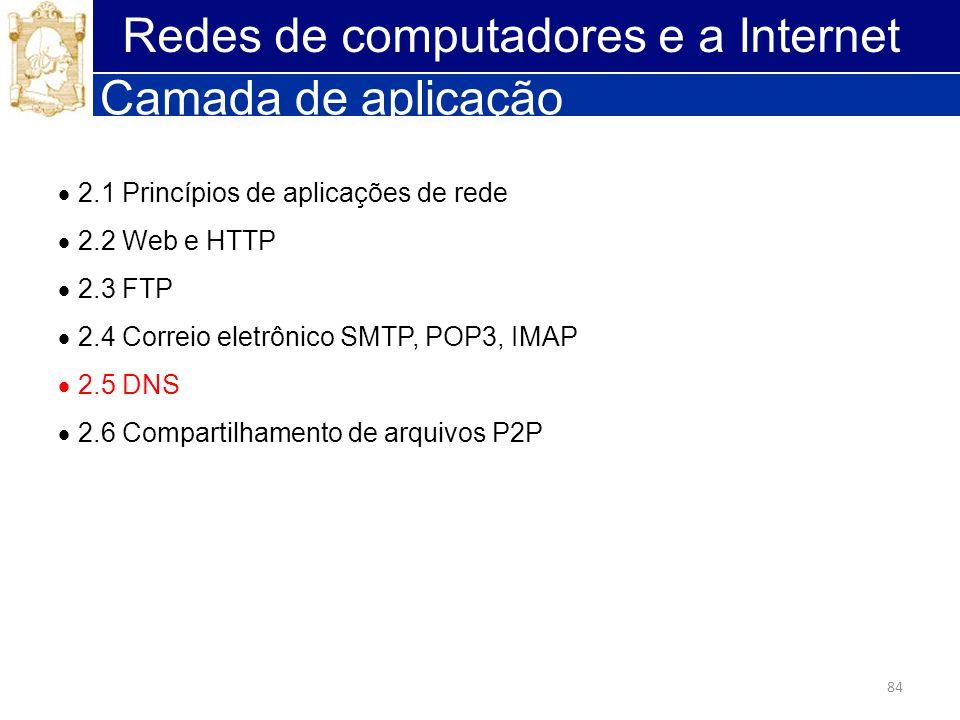Redes de computadores e a Internet Camada de aplicação