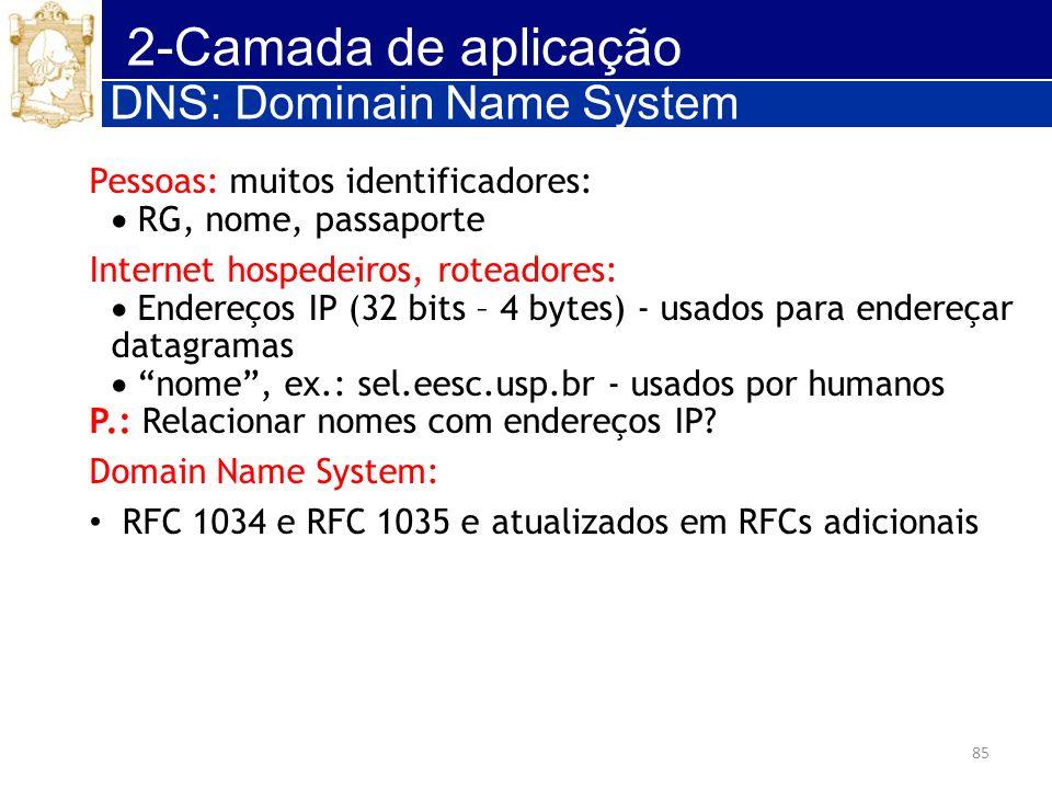 2-Camada de aplicação DNS: Dominain Name System