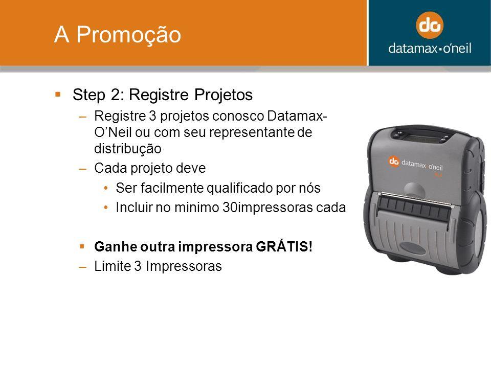 A Promoção Step 2: Registre Projetos