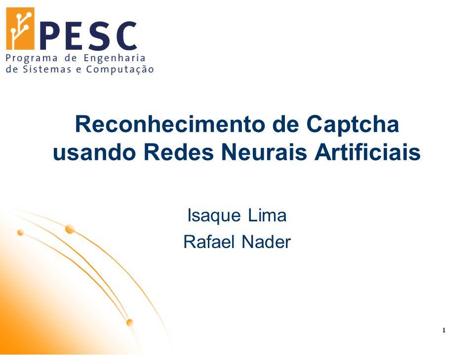 Reconhecimento de Captcha usando Redes Neurais Artificiais