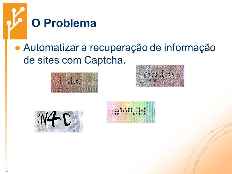 O Problema Automatizar a recuperação de informação de sites com Captcha.