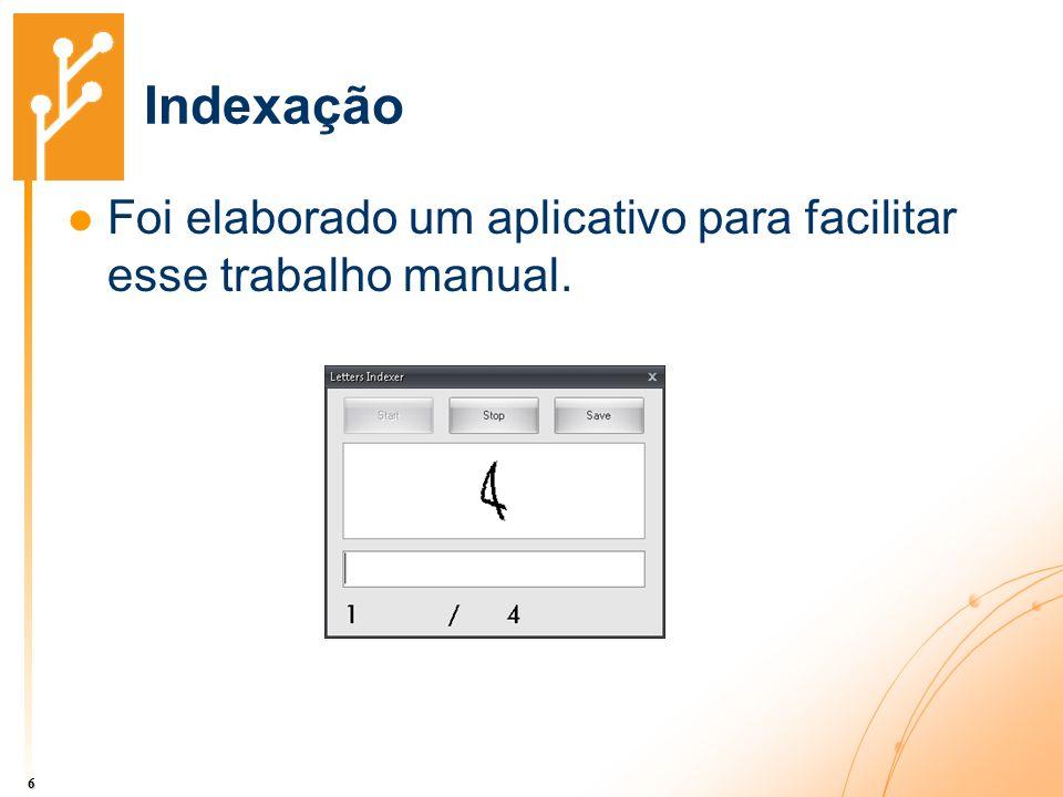 Indexação Foi elaborado um aplicativo para facilitar esse trabalho manual.