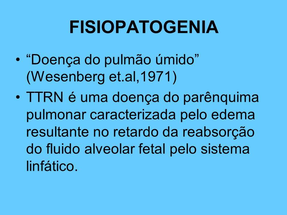 FISIOPATOGENIA Doença do pulmão úmido (Wesenberg et.al,1971)