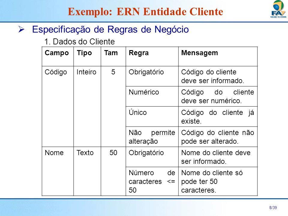 Exemplo: ERN Entidade Cliente