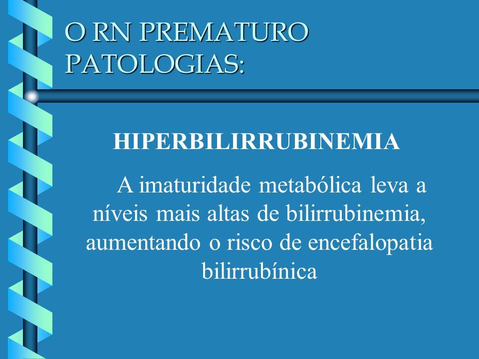 O RN PREMATURO PATOLOGIAS: