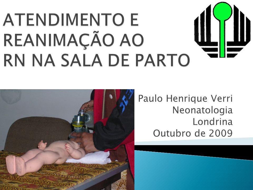 ATENDIMENTO E REANIMAÇÃO AO RN NA SALA DE PARTO