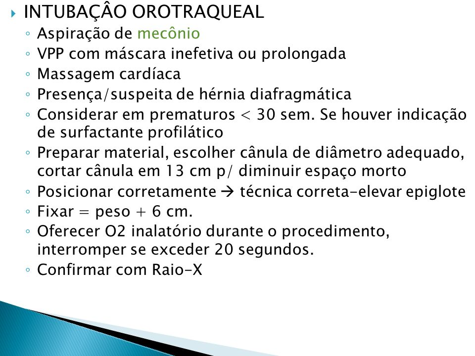 INTUBAÇÂO OROTRAQUEAL