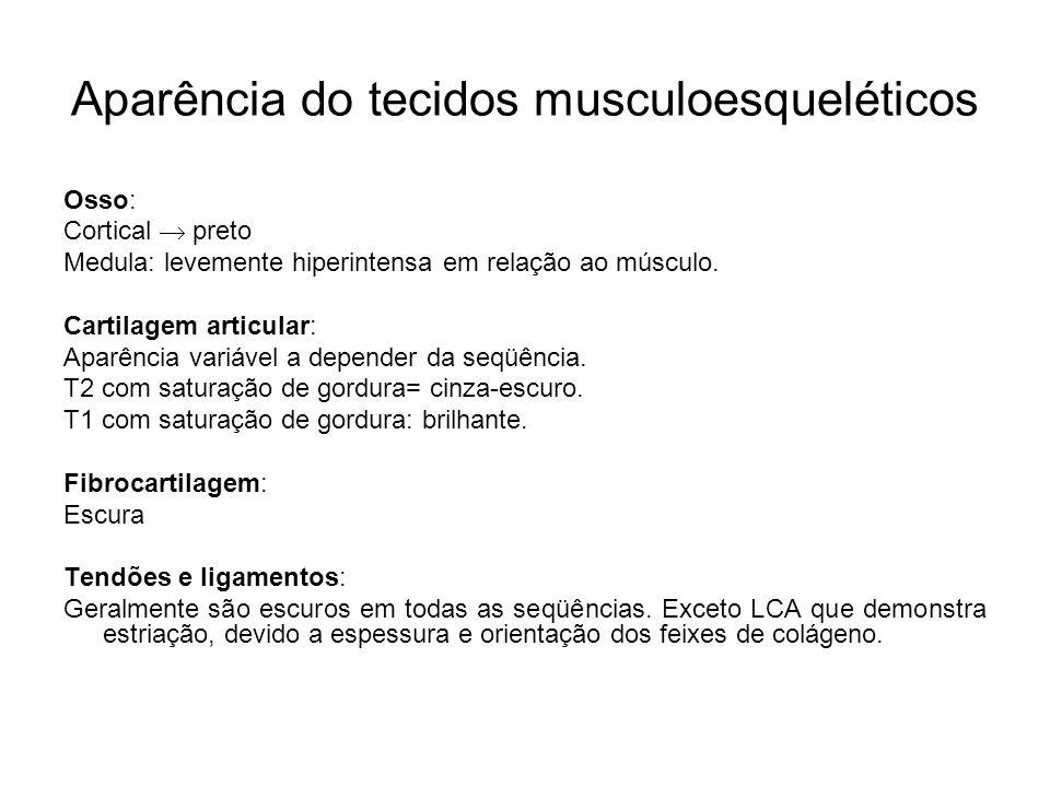 Aparência do tecidos musculoesqueléticos