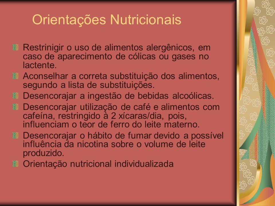 Orientações Nutricionais
