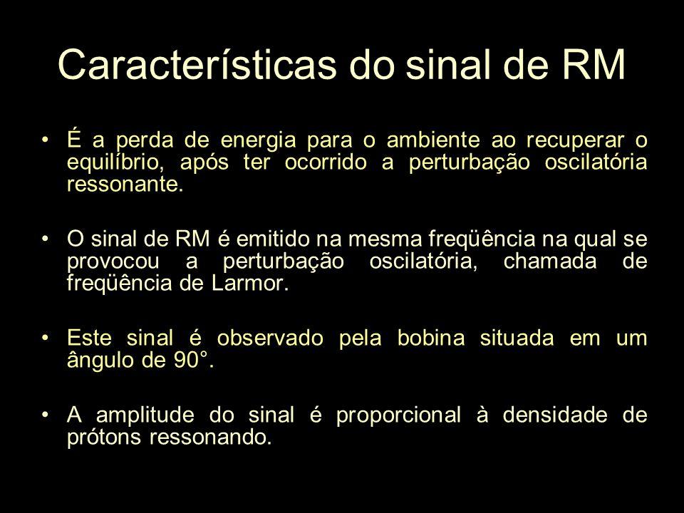 Características do sinal de RM
