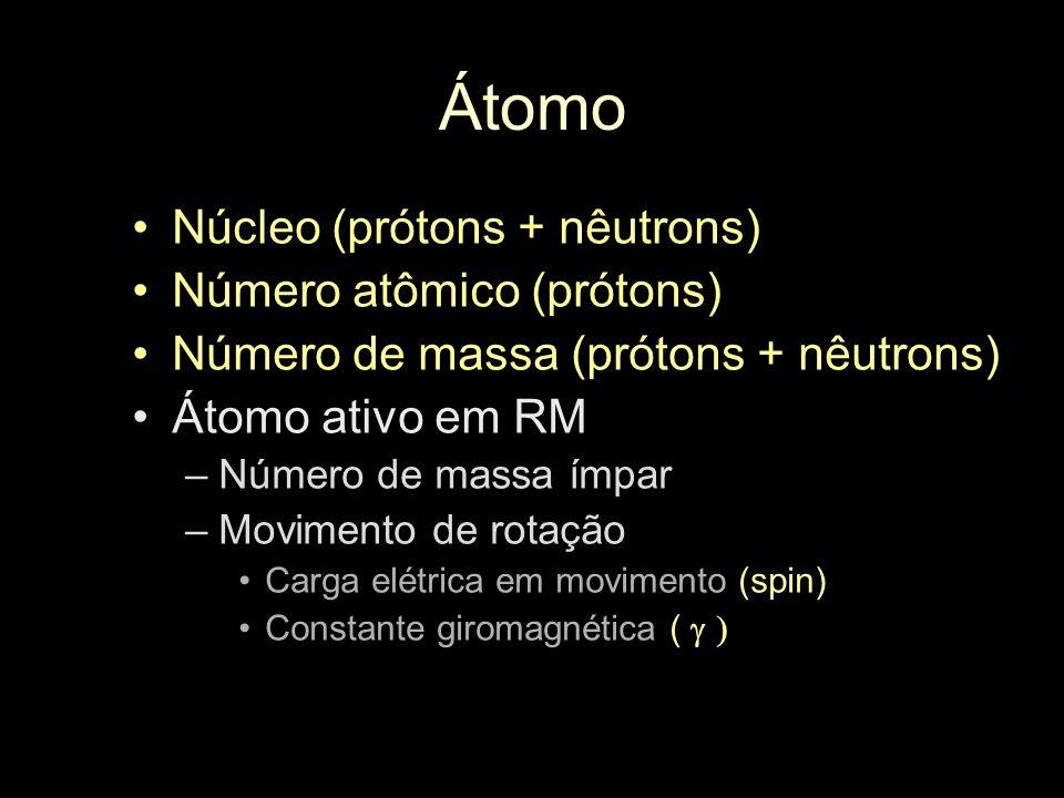 Átomo Núcleo (prótons + nêutrons) Número atômico (prótons)