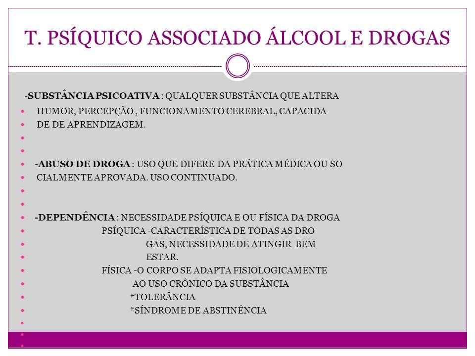 T. PSÍQUICO ASSOCIADO ÁLCOOL E DROGAS