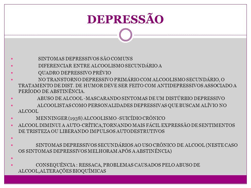 DEPRESSÃO SINTOMAS DEPRESSIVOS SÃO COMUNS