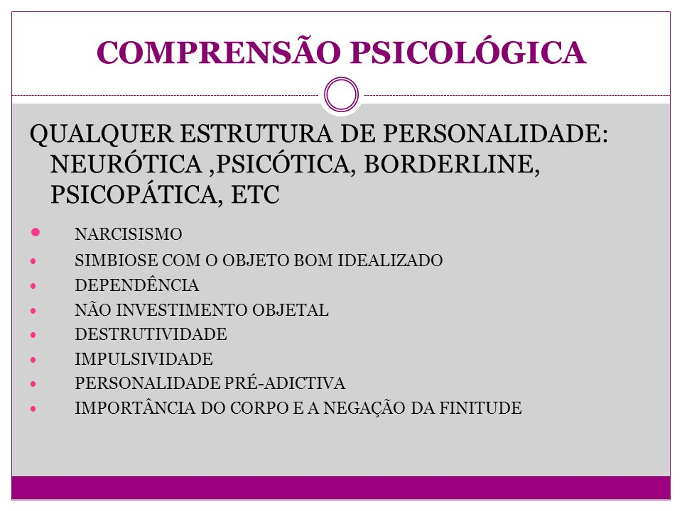 COMPRENSÃO PSICOLÓGICA