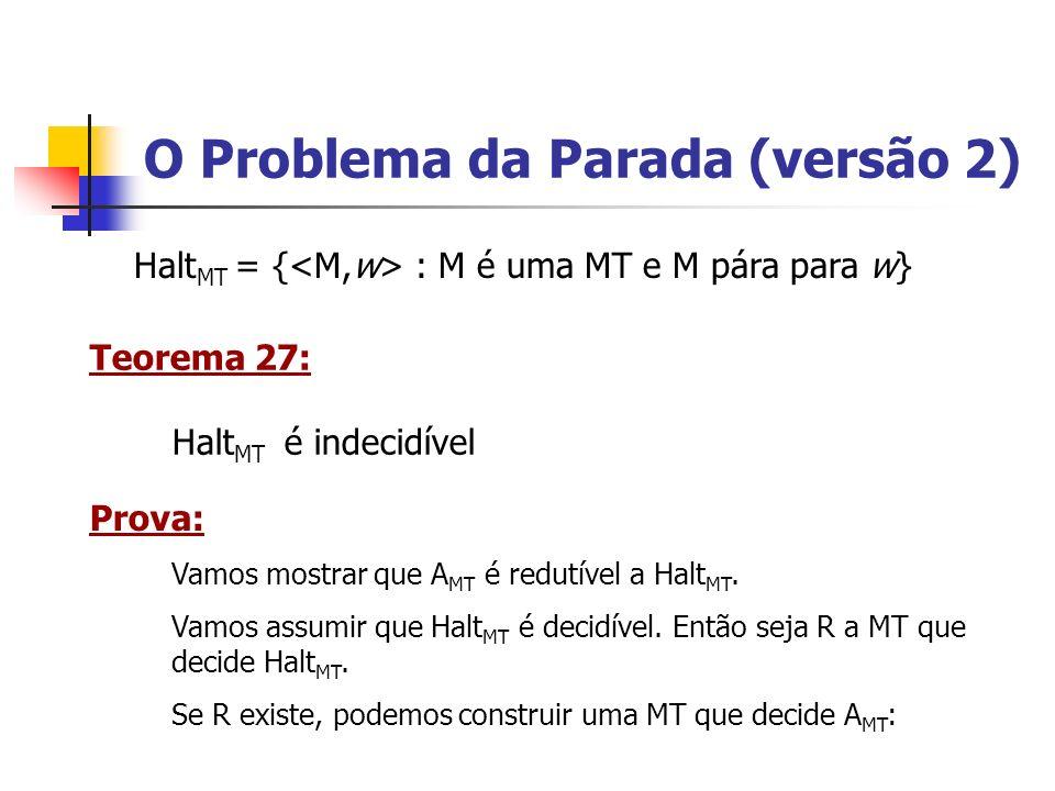 O Problema da Parada (versão 2)