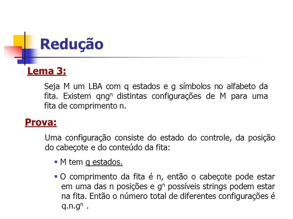 ReduçãoLema 3: