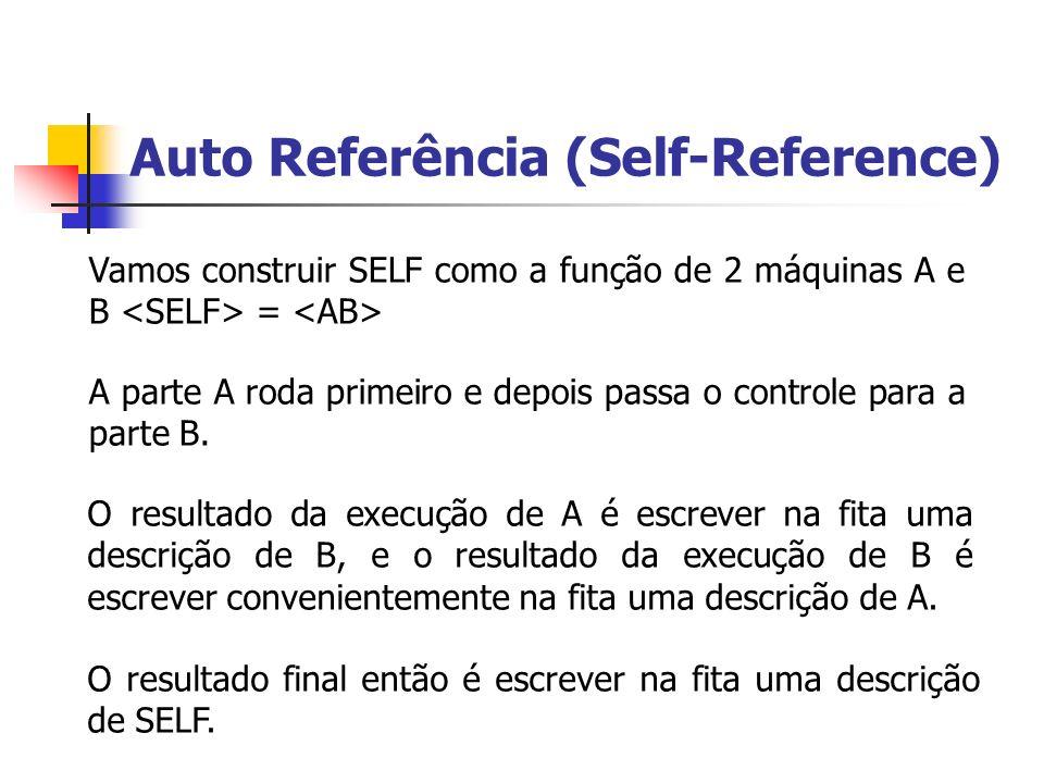 Auto Referência (Self-Reference)