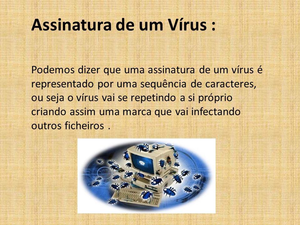 Assinatura de um Vírus :