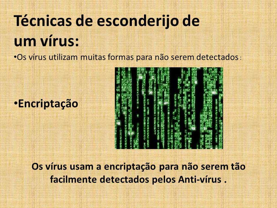 Técnicas de esconderijo de um vírus: