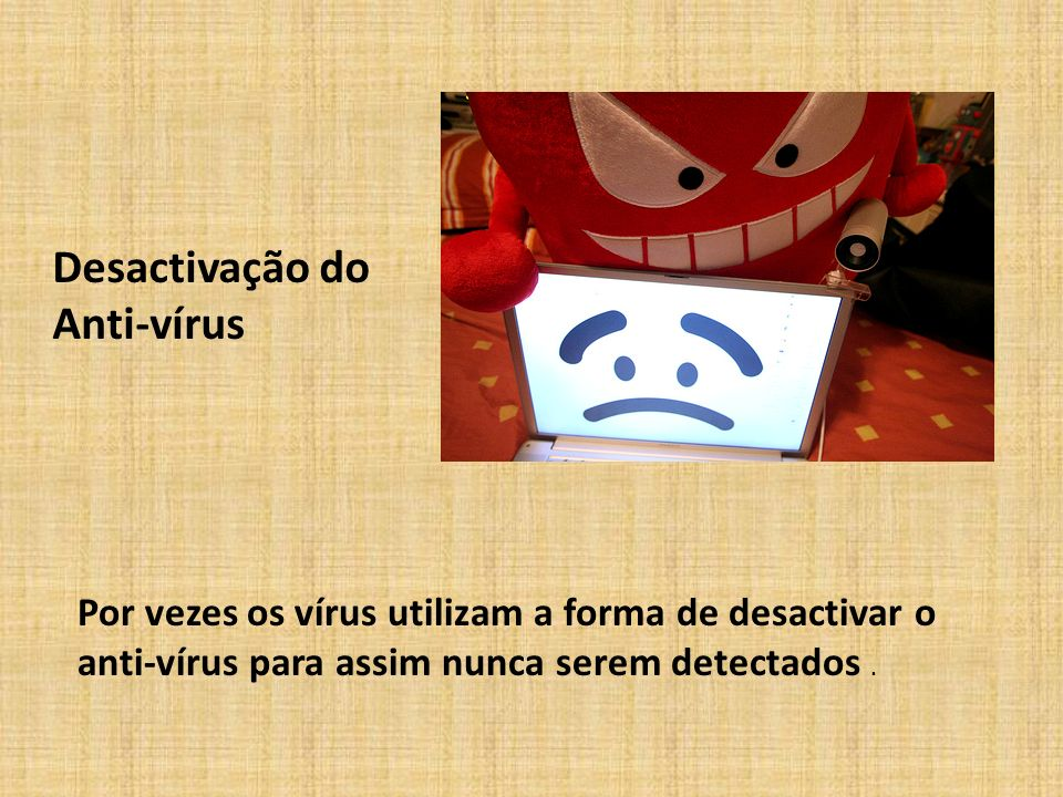 Desactivação do Anti-vírus