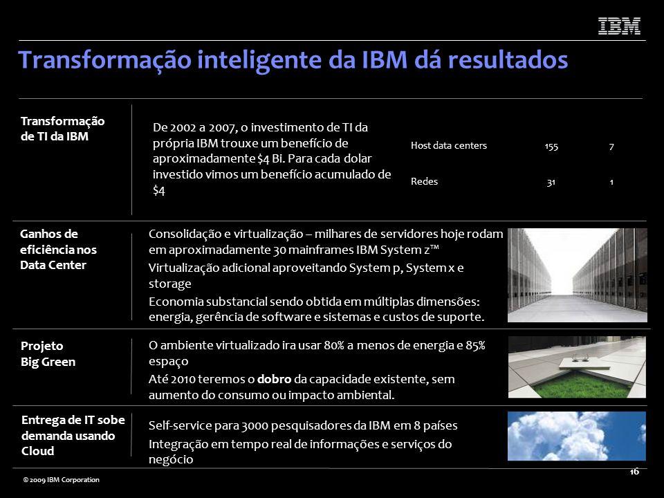 Transformação inteligente da IBM dá resultados