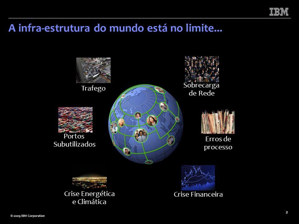 A infra-estrutura do mundo está no limite...