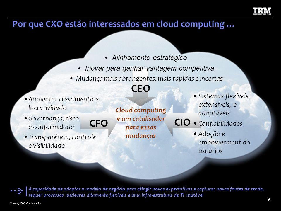 Cloud computing é um catalisador para essas mudanças