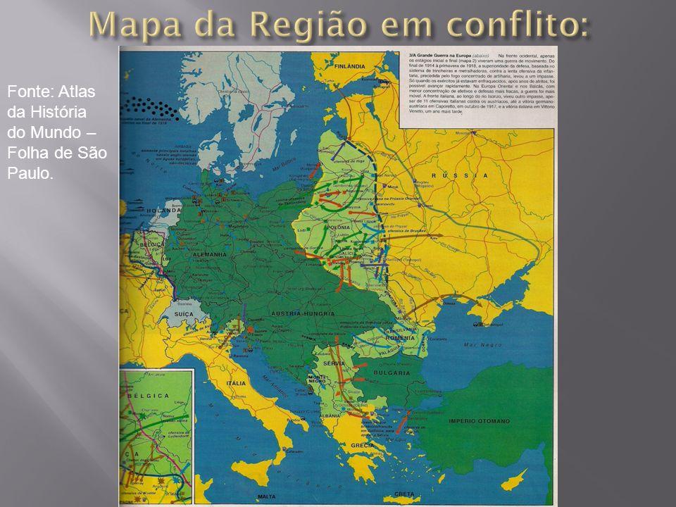 Mapa da Região em conflito: