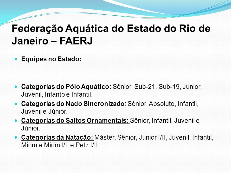 Federação Aquática do Estado do Rio de Janeiro – FAERJ