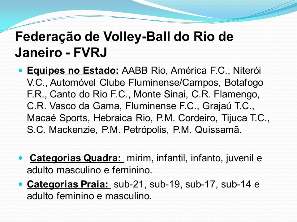 Federação de Volley-Ball do Rio de Janeiro - FVRJ