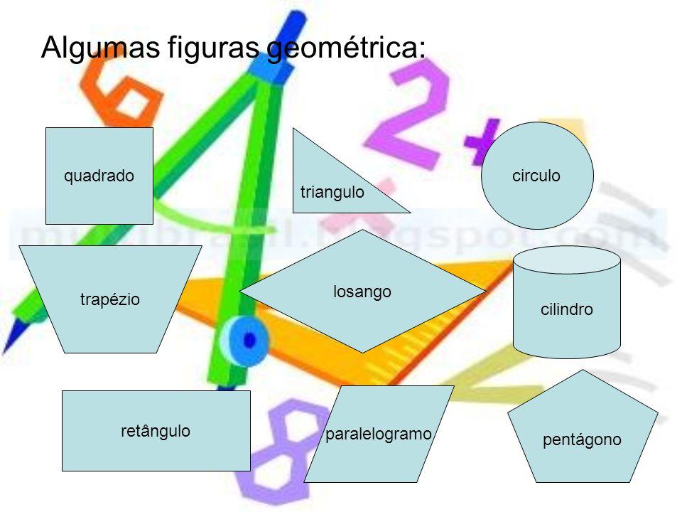 Algumas figuras geométrica: